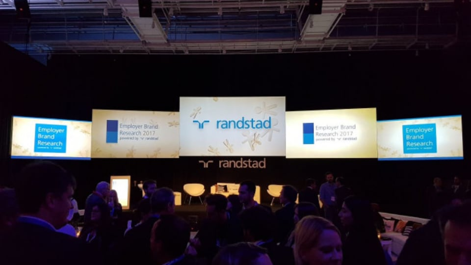 LED screens at Randstad Employer Brand Research 2017
