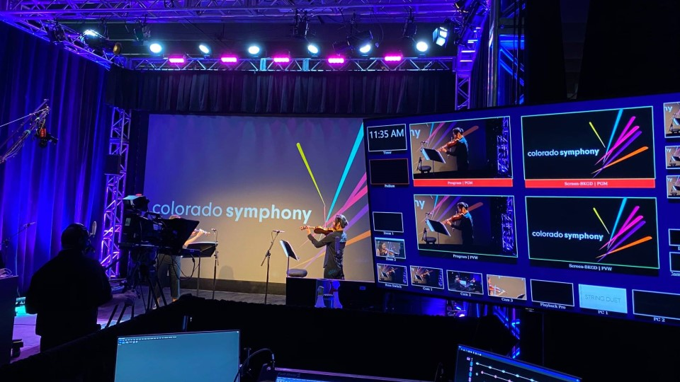 CEAVCO Audio Visual virtual studio used by Colorado Symphony