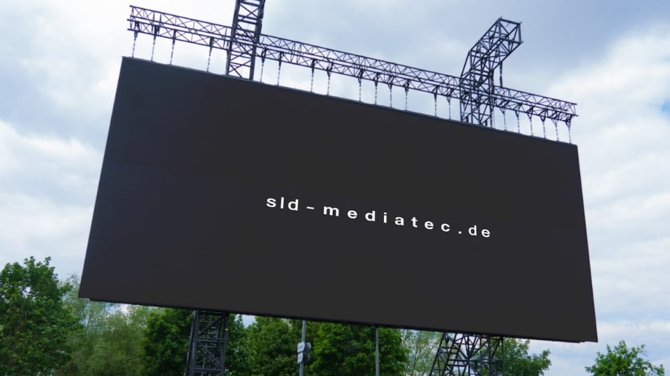 Drive-in movie screen of LED panels by sld mediatec and Limelight Veranstaltungstechnik in Nuremberg