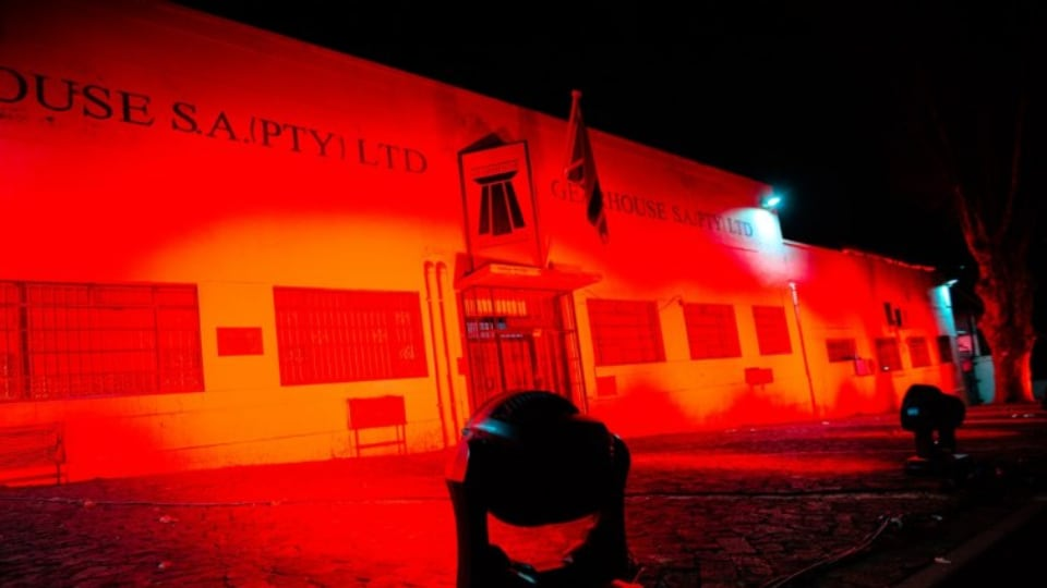 Gearhouse South Africa illuminates their offices in red for LightSARed