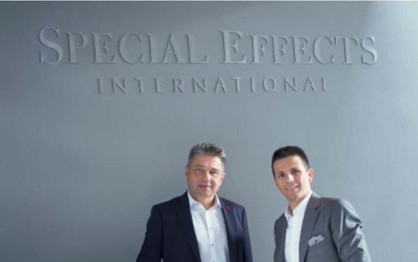Zsolt Kassai, CEO of Special Effects (right) with Zoltan Szmodits (left), former owner of Mobil Audio, now the Touring and Live Entertainment division of Special Effects