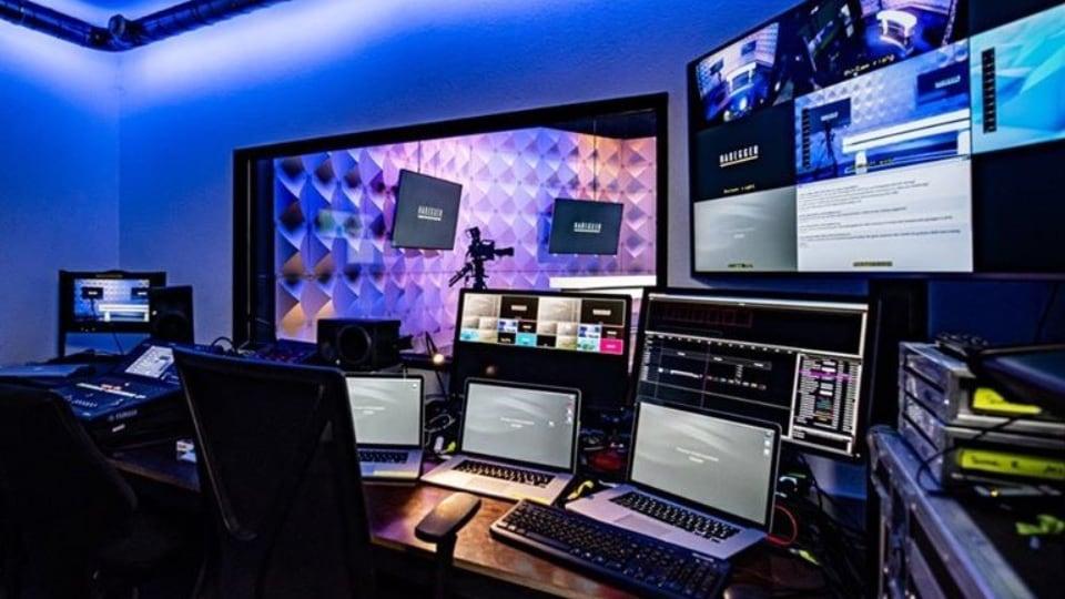 Habegger live streaming studio in Zurich