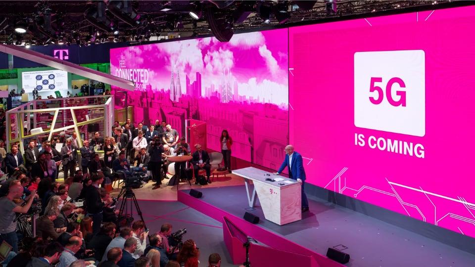 Neumann&Mueller Deutsche Telekom Fair Stand at Mobile World Congress