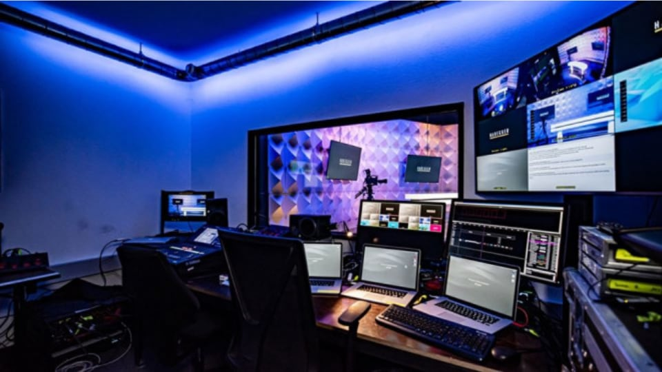 Habegger live streaming studio in Zurich
