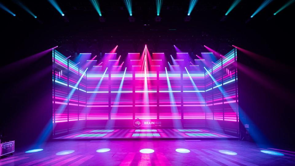 LMG Colossal Cube in its Las Vegas virtual studio