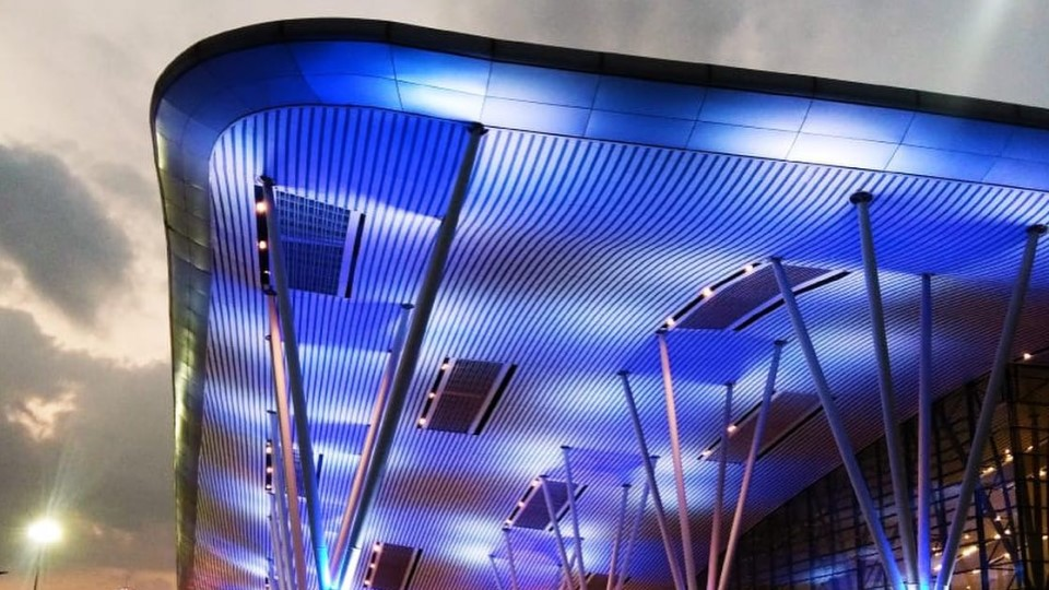 Bengaluru International Airport lighting installation by Reynold's