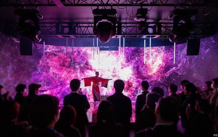 VR x Classical Japanese dance × DIGITAL STAGE by Takenaka
