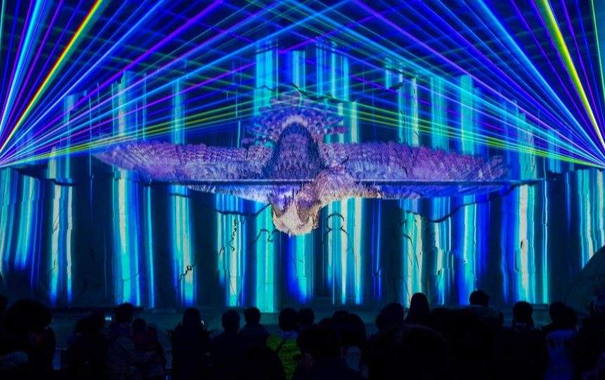 Projection mapping and lights show by Takenaka