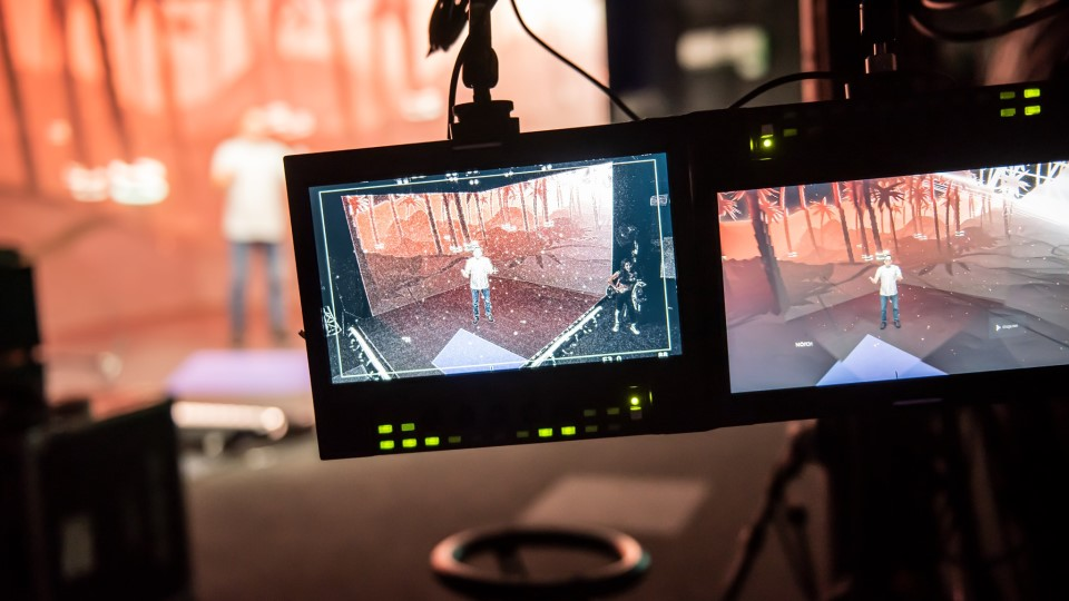LMG xR technology in studio