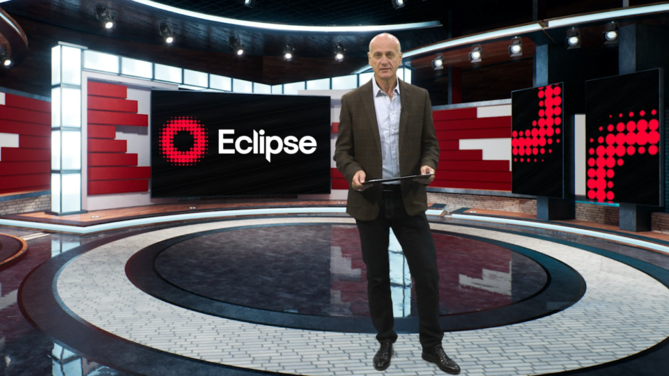 Eclipse owner and CEO Robin Purslow in the company's digital events studio environment