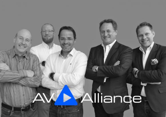 The Board of the AV Alliance, 2018 - Les Goldberg, Daniel Pycock, Simon Ackermann, Peter Worth, Peter Muller