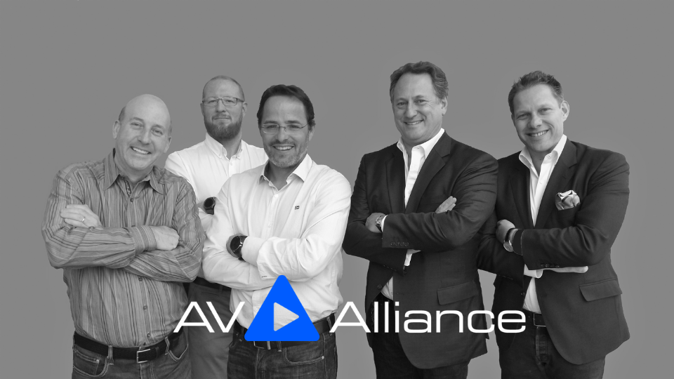 The Board of the AV Alliance, 2018 - Les Goldberg, Daniel Pycock, Simon Ackermann, Peter Worth, Peter Muller