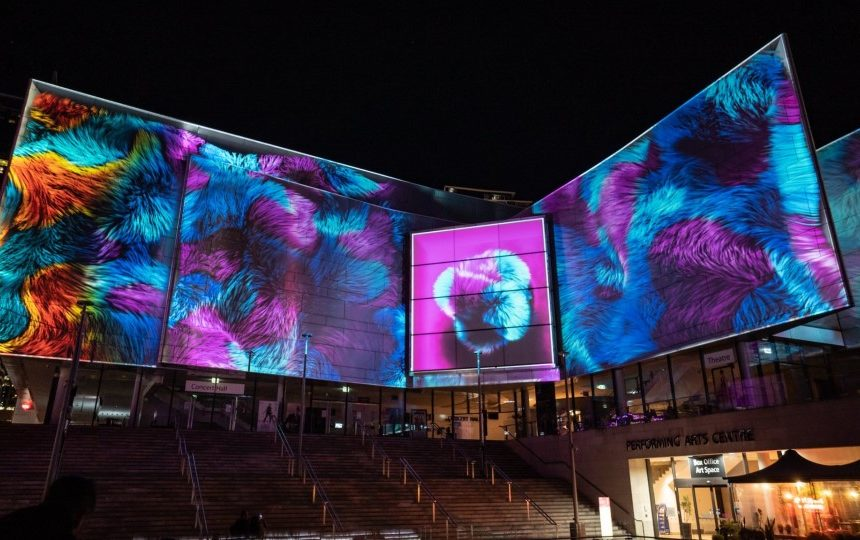 Novatech Creative Event Technology projection mapping for Vivid Sydney 2019