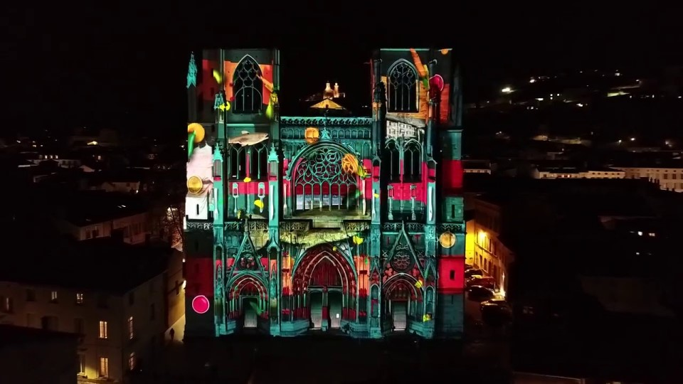 Videlio Events - Region des Lumieres projection mapping campaign 2019