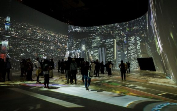 360° projection mapping by VIDELIO for the JAM Capsule